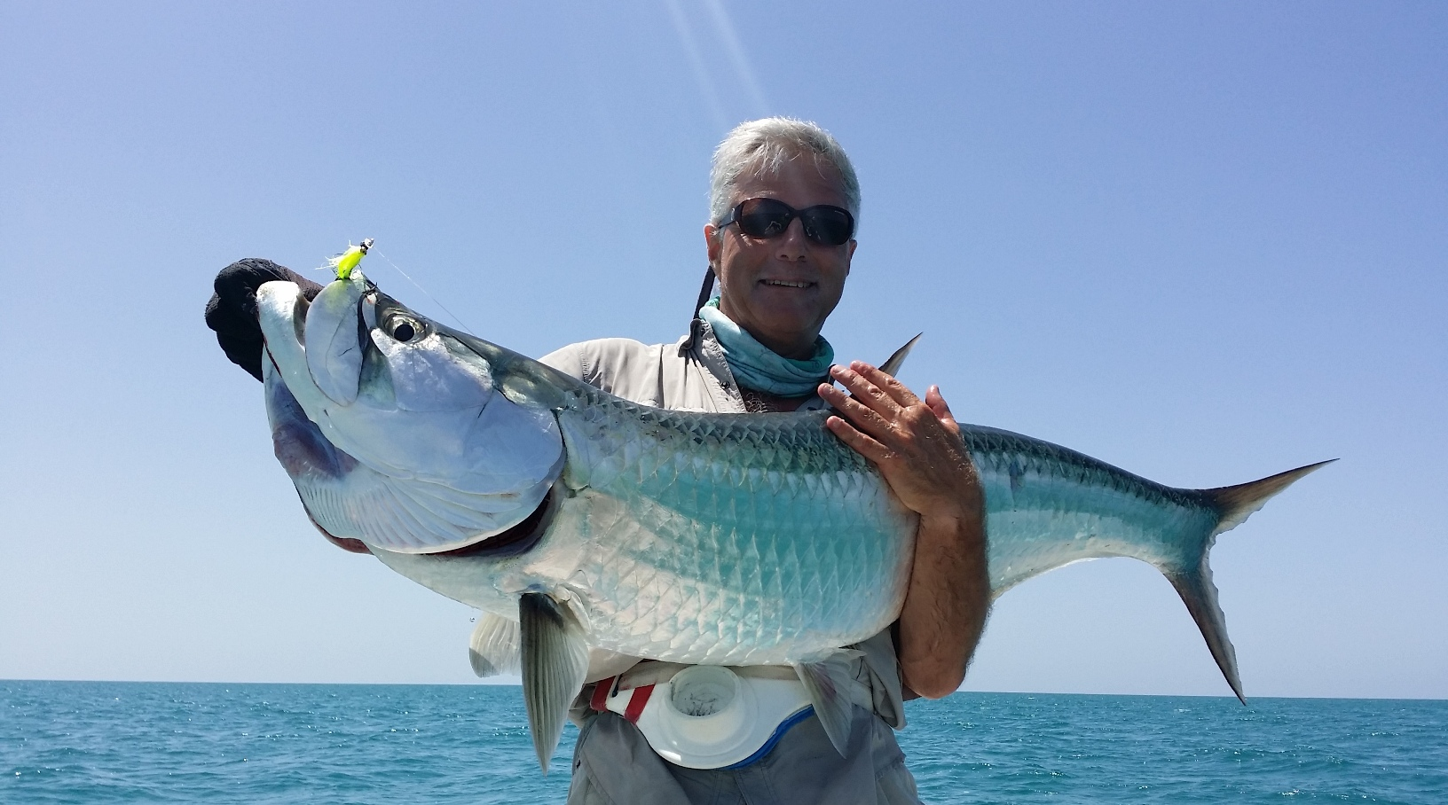 catch tarpon in holbox with Juanito
